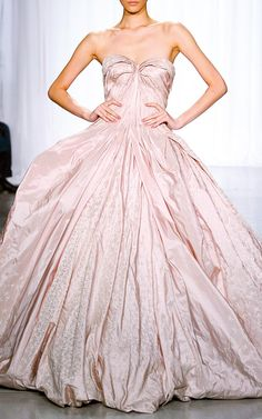 Iris Taffeta Gown by Zac Posen for Preorder on Moda Operandi