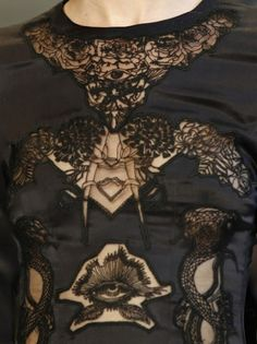 Alexander McQueen black lace dress to.die.for