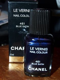 My all time favorite color - Blue Satin by Chanel ~ Almost out of my bottle :(