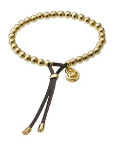 I wear this with my other MK bracelet, stack 'em up!! Michael Kors Bead Stretch Bracelet, Golden.