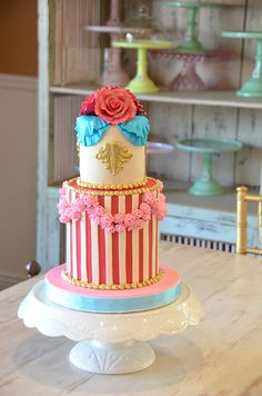 Marie Antoinette Party Cake by Beverly's Bakery
