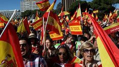 "Thousands rally for Spanish unity in Madrid (VIDEO, PHOTO) https://tmbw.news/thousands-rally-for-spanish-unity-in-madrid-video-photo  Thousands of people have taken to the streets of Madrid to voice their discontent with Catalonia's unilateral declaration of independence.""Prison for Puigdemont!"" opponents of Catalonia's independence shouted, referring to Catalan leader Carles Puigdemont, whose government was sacked by Madrid on Friday following the region's declaration of independence.Crowds…"
