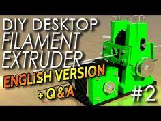 Filament Extruder Desktop Version DIY [English] The PullUnit 3d Filament, 3d Printer Filament, 3d Printer Projects, 3d Projects, Diy Desktop, Robotics Projects, 3d Printing Diy, Electronics Projects, Metal Work