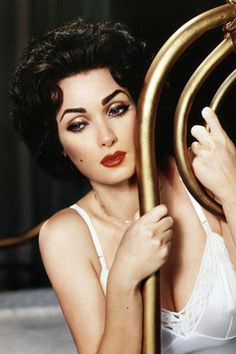 """I remember when Kevyen Aucoin's legendary """"Making Faces"""" came out and I stared at this photo of Winona Ryder made up as Elizabeth Taylor in """"Cat on a Hot Tin Roof"""" for hours...."""