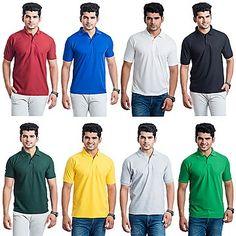 Eprilla Combo Of 8 Men T-Shirts - SDL624570879