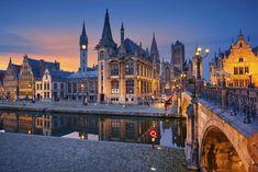 The city of Ghent in Belgium