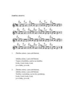 BÁSNIČKY Z VESELÉ ŠKOLIČKY , CO SE UČÍME U Sheet Music, Music Sheets