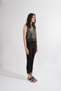 Shop Young & Able Emerging Designer: http://www.shopyoungandable.com ANVY PRINTED BLOCK TANK $396.00