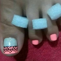 Cute Pedicures, Toe Nail Designs, All Things Beauty, Toe Nails, Manicure, Nail Art, Ideas, Toenails, Sour Cream