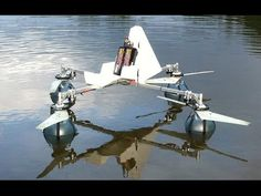 Efficient propeller / amphibious quadcopter build