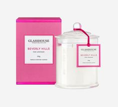 Beverly Hills Pink Lemonade Triple Scented Candle by Glasshouse Fragrances