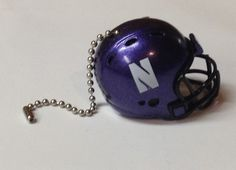 Northwestern Wildcats Handmade Plastic Helmet Ceiling Light/Fan Pull and Chain