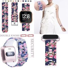 Colorful Floral Small Replacement Band Strap Bracelet Loop for Fitbit Versa for sale online Trampoline Springs, Apple Watch Accessories, Fitness Tracker, Pink Flowers, Fitbit, Bracelet, Colorful, Bands, Ebay