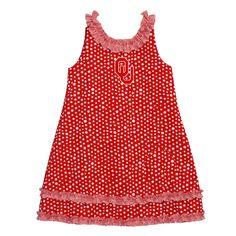 Gorgeous Embroidered Oklahoma Ruffle Polka dot Dress