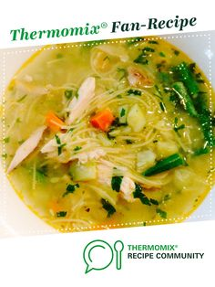 CHICKEN NOODLE SOUP by Thermomistress. A Thermomix <sup>®</sup> recipe in the category Soups on www.recipecommunity.com.au, the Thermomix <sup>®</sup> Community.