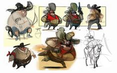 fat cowboy concepts by AndyBarry on deviantART