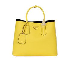 Prada Saffiano Cuir Leather Tote Bag BN2756 Lemon - $269.00