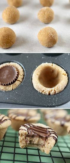 Reese's Peanut Butter Cookie Bites and Peanut butter cookies with hershey kisses; OMG - The peanut butter cookies with reese peanut butter cups are absolutely heavenly; 4.5 stars; 12/2013