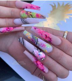 Long Nail Designs, Acrylic Nail Designs, Nail Art Designs, Stiletto Nails, Gel Nails, Manicure, Nail Nail, Nail Swag, Fabulous Nails