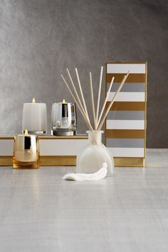 A home with a great scent is the gift that keeps giving. Stylish Home Decor, Home Decor Accessories, Bathroom Accessories, Bathroom Furniture, Perfume, Decoration, Decorative Items, Home Fragrances, Washroom