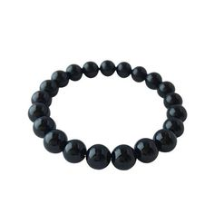 Black Onyx Healing Bracelet Black Onyx - A strong grounding stone - Helps to defend against negativity that may be directed at the wearer - Helps to relieve negative feelings - Brings self-confidence - Sharpens the senses. Healing Bracelets, Beaded Bracelets, Bead Size Chart, Purple Lily, Elephant Bracelet, Black Tourmaline, Bracelet Sizes, Gemstones, Black Onyx