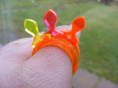 Fish 1 - Laser Cut Fluorescent Acrylic Perspex Ring £4.00