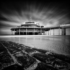 Blankenberge Pier in B&W IV - Blankenberge has much more to give than I thought. I went several times now, I always discover something different.. I went back again to take some shots of the Pier, I made some more long exposures. #BW #beach #belgium #blackandwhite #blackandwhitephotography #blankenberge #breakwater #clouds #groyne #landscape #landscapephotography #longexposure #longexposurephotography #nature #naturephotography #ocean #pier #pontoon #scenic #sea #seascape…