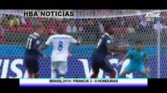 Karim Benzema anotó 2 goles y provocó el primer gol que decidió la tecnología en un Mundial durante un partido donde los galos arrollaron a Honduras.  Benzema abrió la senda del triunfo con un tiro de penal al minuto 45, y el arquero Noel Valladares amplió la cuenta con un gol en su propia puerta, al 48.  Misilazo. El delantero del Real Madrid cerró la cuenta con un violento disparo de derecha, al minuto 72, luego de pescar un rebote, para ...