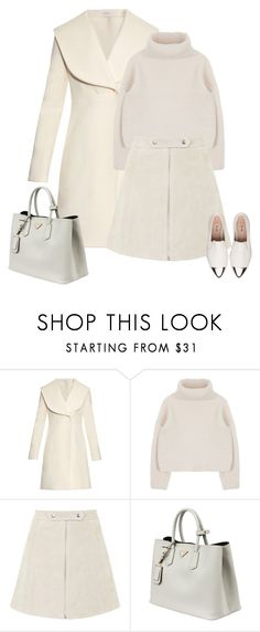 """""""White on white"""" by natcatt ❤ liked on Polyvore featuring J.W. Anderson, Topshop, Prada, Miu Miu, women's clothing, women's fashion, women, female, woman and misses"""