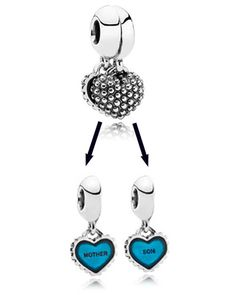 Pandora Silver Piece of My Heart Enamel Charm - Son Available at: www.always-forever.com