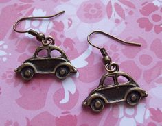 VW Beetle Earrings need them! Volkswagen, Vw Accessories, Beetle Car, Think Small, A Bug's Life, Bus Ride, Vw Bugs, Cute Cars, June Bug