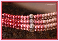 Bracelet Pink Ombre Glass Pearls Sparkly by PickleStiksandCo, $24.00