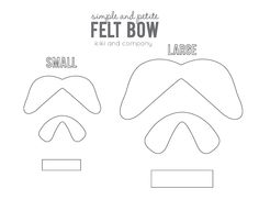 ... love of bows... on Pinterest | Felt Bows, Paper Bows and Bow Garland