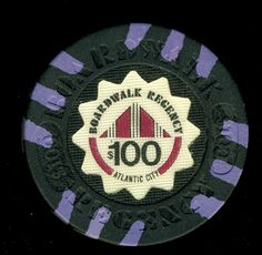 Atlantic City Casino Chip of the Day is a $100 Boardwalk Regency 2nd issue for sale here http://www.all-chips.com/ChipDetail.php?ChipID=17338#.UvzcSM5n0t0
