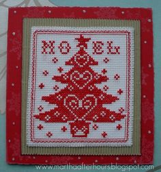 Christmas cross stitched card