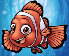 How to draw disney characters easy finding nemo ideas Fish Drawings, Disney Drawings, Cartoon Drawings, Drawing Disney, Eye Drawing Tutorials, Cartoon Drawing Tutorial, How To Draw Nemo, Cartoon Eyes, Butterfly Drawing