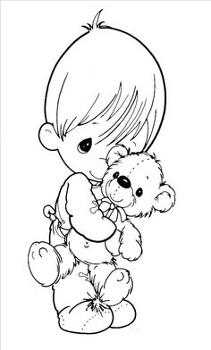 Precious Moments Coloring Kids Book - Precious Moments cartoon coloring pages