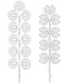 crochet leaf diagrams