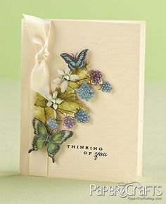 Kalyn Kepner - Paper Crafts magazine, love the cream card with the popped elements