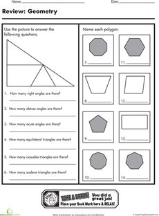 Quadrilaterals Cut Out Sheet Great For Putting Together A