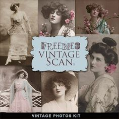 Freebies vintage scan, vintage photos kit, from Far Far Hill