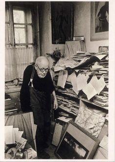 Czech photographer Josef Sudek in his studio, 1974.