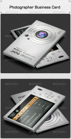 Photographer Business Card Template #design Download: http://graphicriver.net/item/photographer-business-card/3431067?ref=ksioks