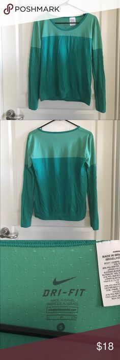 Nike Pullover Size Small Green Nike dri-fit pullover. Still in great condition. No trades or PayPal. Nike Tops Tees - Long Sleeve