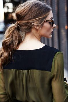 Relaxed ponytail.