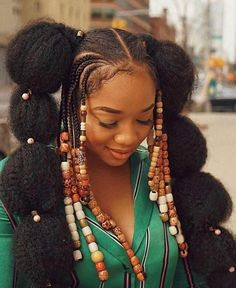 Follow us for more on Instagram @ curly_girl_swag Box Braids Hairstyles, Girl Hairstyles, Formal Hairstyles, Afro Punk, Natural Hair Growth, Natural Hair Journey, Cornrows, Curly Hair Styles, Natural Hair Styles