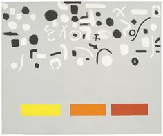 "acrylic on canvas, 7' 6-1/8"" x 9' 1/8"" (228.9 cm x 274.6 cm), 1972, © Estate of Adolph and Esther Gottlieb /Licensed by VAGA, New York, NY / Photo by Ellen Labenski, courtesy Pace Gallery"