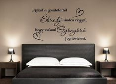 Diy And Crafts, Sweet Home, Positivity, Thoughts, Bed, Wall, Furniture, Design, Home Decor