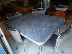 1950s Gray Formica Table with 4 Matching Chairs on Etsy, $425.00