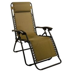 Caravan Canopy Zero Gravity Reclining Chair With Adjule Headrest Beige Lawn Patio